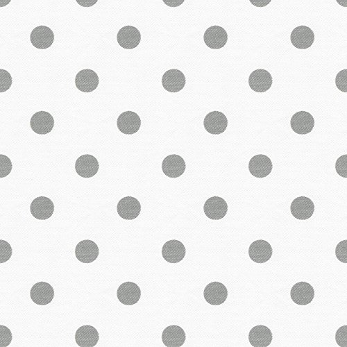 Carousel Designs White and Gray Polka Dot Cradle Sheet
