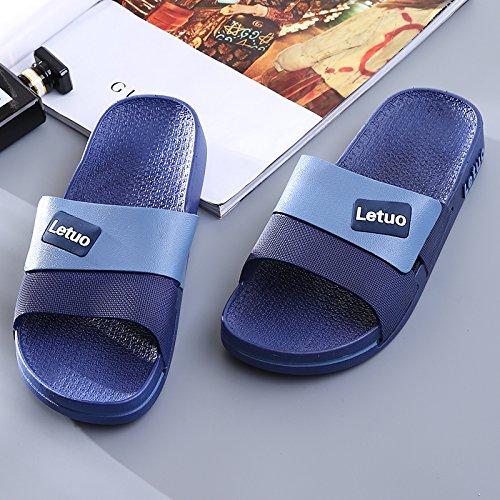 bagno nbsp;Home l'anti estate morbido 44 da e vasca slittamento pantofole del anti e piede odore femminile Fankou scuro pantofole fresco dentro fuori blu 4qF8Awxq