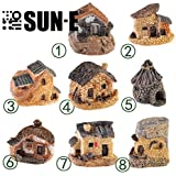 SUN-E 8pcs(Random Color) in Set Moss Fairy Miniature Fairy Garden Stone House Statue Home Decoration Outdoor Decor