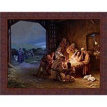 Light of the World by Mark Missman Manger Scene Nativity 18x14 Framed Art Print Picture