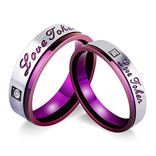 2 x Wedding Rings for Women Rings Engraved Love Token for sale  Delivered anywhere in Canada