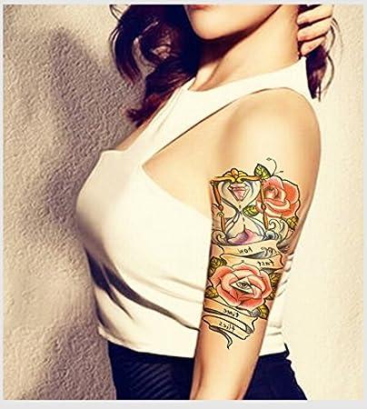 Impermeable Tatuaje Temporal Manga Pegatinas Lindo Rosa Flores ...