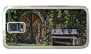 Hipster Samsung Galaxy S5 Case free shipping cover old bench door PC Transparent for Samsung S5