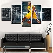 "Pangoo Art - Kobe Bryant's Motivational/Inspirational Fighter Spirit Canvas Painting/Prints - 5 piece Canvas (Unframed) (12x22""x2pcs,12x28""x2pcs,12x36x1pcs)"
