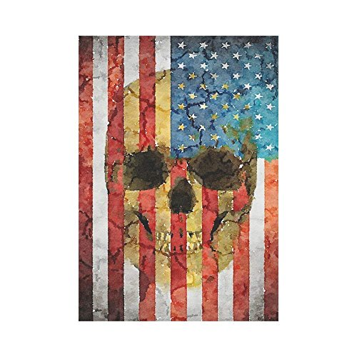 Witch Flying on her Broomstick Polyester Garden Flag Outdoor Banner 28 x 40 inch, Halloween Bats Spooky Night Decorative Large House Flags for Party Yard Home Decor -