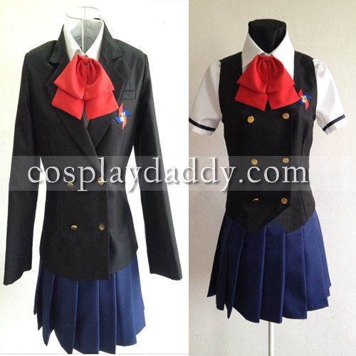 [Another Misaki Mei Cosplay Costume with Vest&eyeshade Cosplay] (Mei-costume)