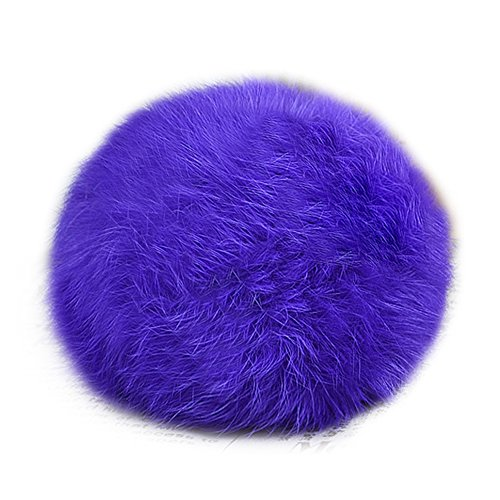 PATTONJIOE-Farm-Rabbit-Fur-Ball-Key-Chains-Phone-String-Pendant-Purple-7cm