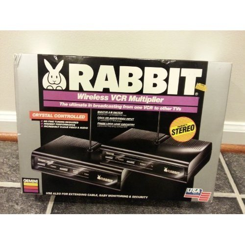 Gemini Rabbit Wireless VCR Multiplier / The Ultimate in Broadcasting From One VCR to Other Tvs / Use Also For Extending Cable, Baby Monitoring & Security