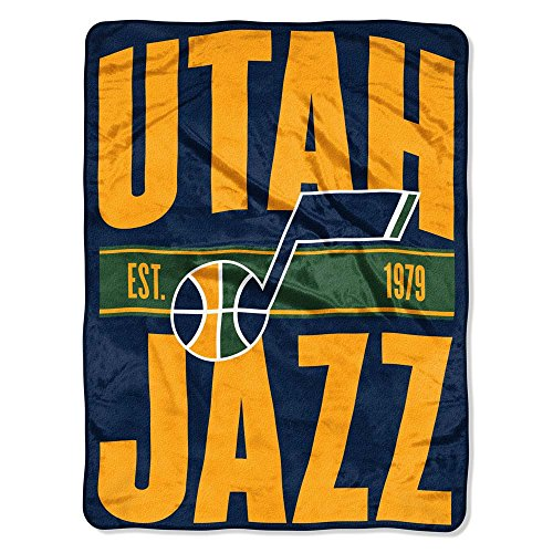 The Northwest Company NBA Utah Jazz Micro Raschel Throw, One Size, Multicolor by The Northwest Company