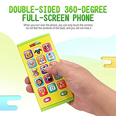 CCGTOY Two-Sided Screen Mobile Phone Toy Music Learning Animal Chat Count Smart Phone Education Toy for Toddler Kids: Electronics