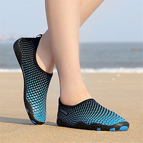 LeKuni Calzado Color Agua Respirable Rápido de Blue Agua Natación Playa Piscina Zapatos Unisex Soles de de Zapatos Secado de jy de rnSgrx