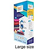 Real Space Bag Vacuum Storage Bags for Clothes  (Large Size) - Set of 3 Bags