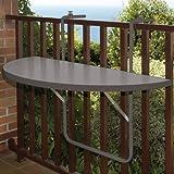 Balkonhängetisch 100x50cm, grau Kunststoffplatte