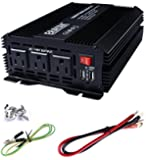 ERAYAK 1000W Power Inverter 3 US Outlets,3.1A Dual USB Ports w/ Alligator Clips Battery Clamps Cable,DC12V to AC110V,for AC/USB Device like Blender,Refrigerator,Drill,Game Console,Cooler-8099U