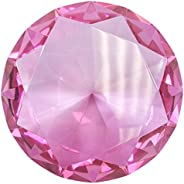Fancy 100mm Crystal Glass Diamond Paperweight