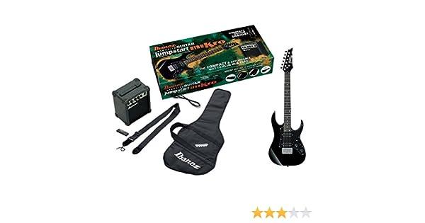 Ibanez IJM21RU-BKN - Kit de iniciación compuesto de guitarra eléctrica, amplificador (10 W), funda, correa, púas, cable y afinador, color negro.