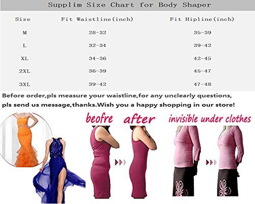 002e5fc734c Supplim Women s Body Shaper Waist Cincher Underbust Corset Bodysuit  Shapewear