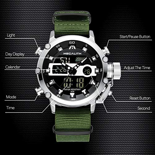MEGALITH Mens Sports Watches Military Digital Gents Watch Chronograph Waterproof Wrist Watches for Man Boys Kids with… 5