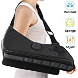 Medical Arm Sling Support Ergonomic Design Support Brace Strap Lightweight Adjustable Shoulder, Rotator Cuff Full Soft Immobilize Shoulder Abduction Sling Included with Breathable Pillow