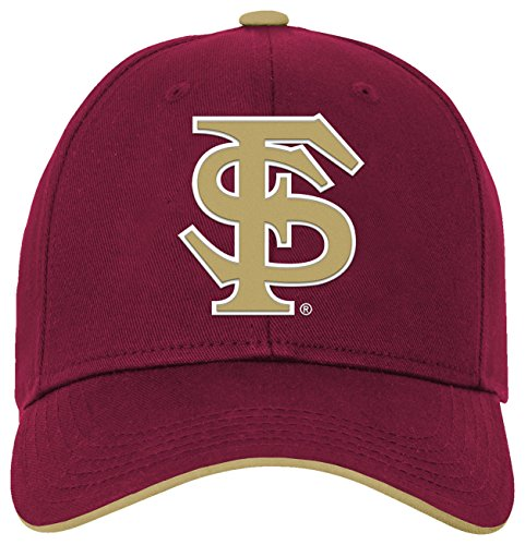 NCAA by Outerstuff NCAA Florida State Seminoles Kids & Youth Boys Basic Structured Adjustable Hat, Burgundy, Youth One Size