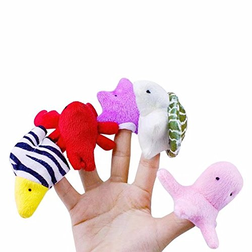 20 PCS Animal Finger Puppet Plush Educational Toy For Story Time with Free Gift Hand Play Hike and Seek Animal Toy for April Fool's Day (Ant Farm Halloween Song)