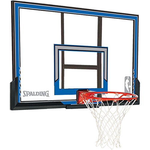 Spalding Wall Mount Basketball Hoop with 50-Inch Polycarbonate Backboard by Spalding
