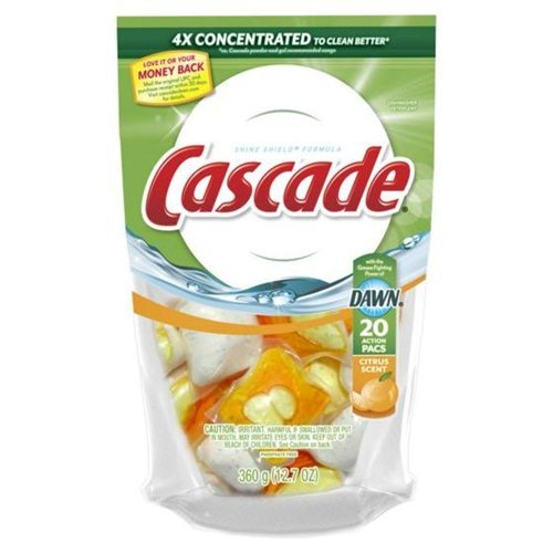 Cascade 43121 Cascade® 2 In 1 ActionPacsTM Dishwasher Deter