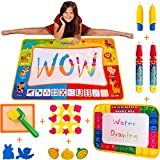 Wow Four Design AquaDoodle Mat - Aqua Doodle Water Drawing Mats Toy Gift for Travel Toys for 1 2 3 4 5 6 Year Old Boys Girls Toddlers Gifts