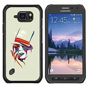 LECELL--Funda protectora / Cubierta / Piel For Samsung Galaxy S6Active Active G890A -- Cara colorida --