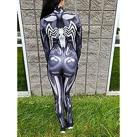 - 51twuDcJVLL - AestheticCosplay Gwenom Cosplay Costume | AntiGwenom Red Carnage Gwen Stacy Suit Bodysuit | Lycra Fabric