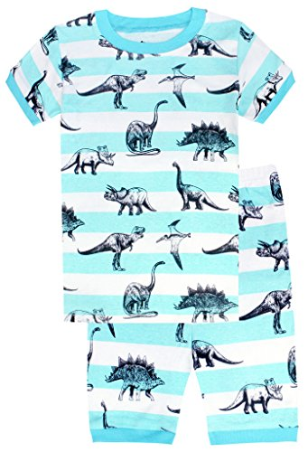 Boys'2 Piece Sleepwear Short Pajamas Set Dinosaurs PJs Size 3Y