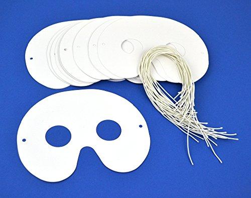 10 White Card Half Face Masks For Kids Crafts | Masks to Decorate