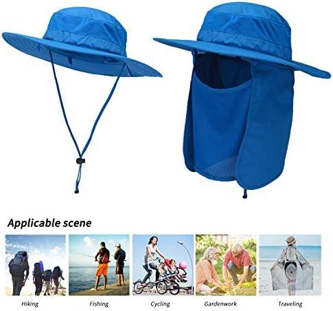 und Halsklappe mit breiter Krempe f/ür Camping und Garten HunterBee Sonnenhut mit abnehmbarer Gesichts