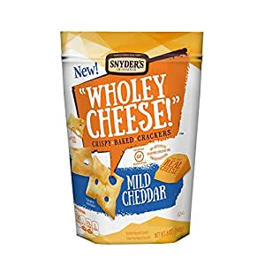 Snyder's of Hanover Wholey Cheese! Gluten Free Cheese Crackers - Mild Cheddar, 5 Ounce