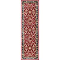Universal Rugs Sariya Transitional Oriental Red Runner Rug, 2 x 7