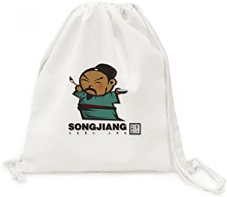 DIYthinker Les Outlaws de Marais Songjiang Zone de Dessin Drawstring Backpack Voyage Sacs