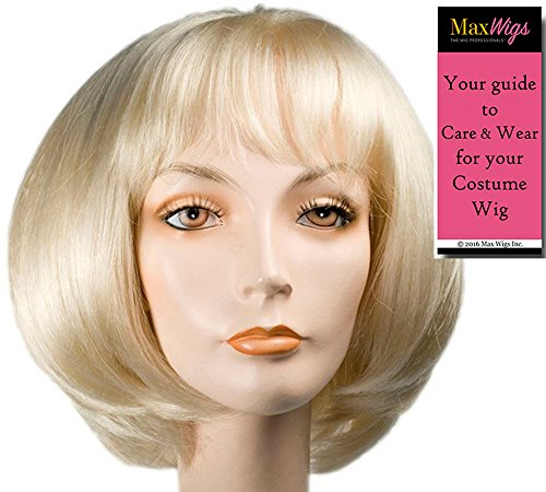 Audrey Shop of Horrors Color Yellow - Lacey Wigs Women's Women's Synthetic Bouffant Seymour Flower Bundle with MaxWigs Costume Wig Care Guide