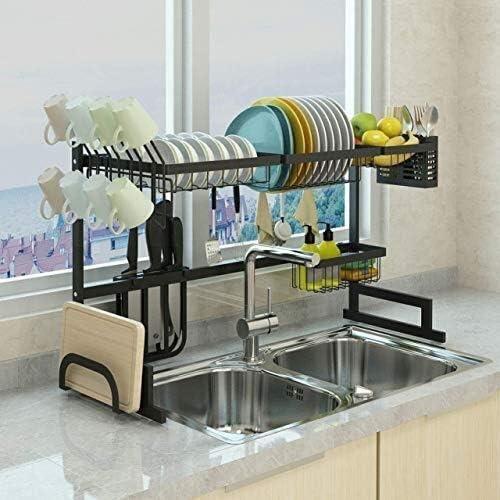 ホームキッチン棚収納食器用水切り棚食器用水切りラック食器用ラックシンク調理器具ホルダーカトラリーオーガナイザードレンボウルラック収納棚ステンレス