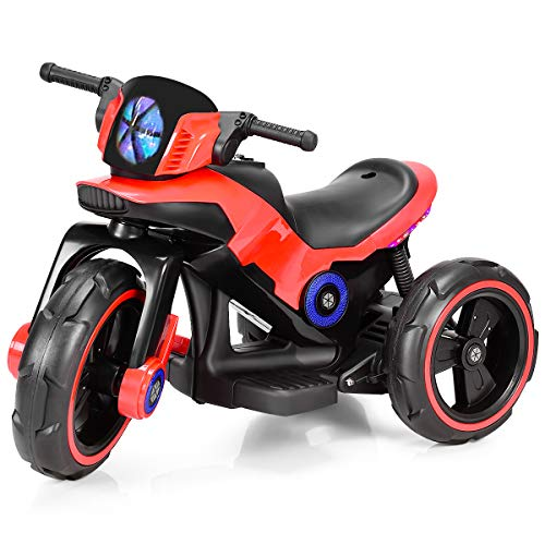 Costzon Kids Motorcycle 6V Bicycle 3 Wheels Battery Powered W/ MP3 for Boys & Girls