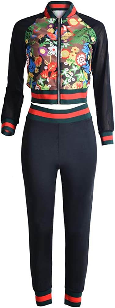 Two Piece Night Club Outfits for Women Long Sleeve Sports Suit suitPants Bodycon Jumpsuit