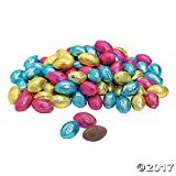 Image of Chocolate Easter Candy Eggs (Approx. 88 Pcs. Per Unit, 1 Lb.) Pastel Color Wrappers
