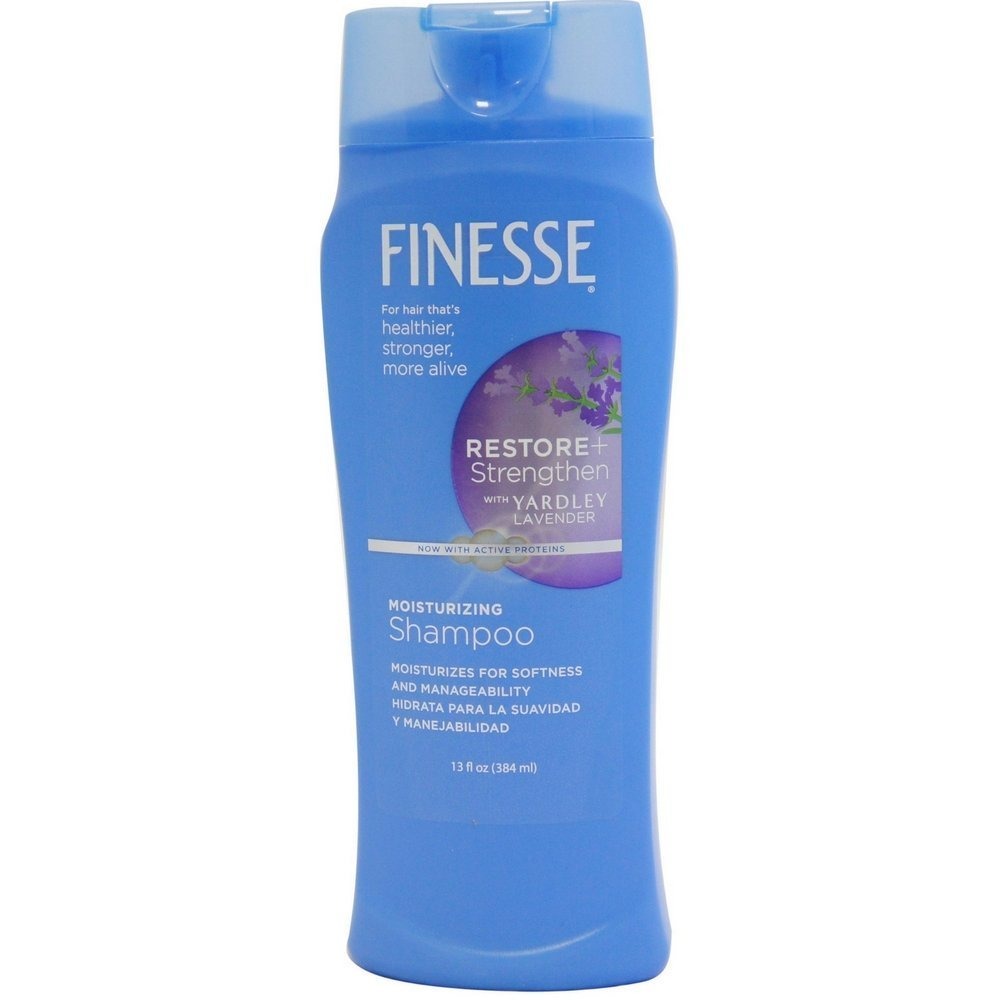 Finesse Shampoo with a Touch of Yardley Lavender for All Hair Type 13 oz (Pack of 6) by Finesse