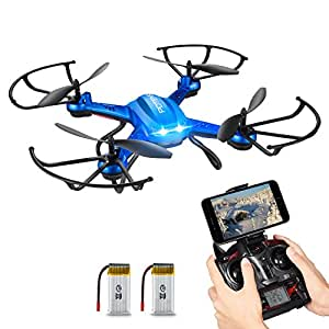 RC Quadcopter, Potensic F181WH Drone RTF Altitude Hold RC Quadcopter UFO with 2MP WiFi Camera(Blue)