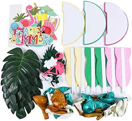 [スポンサー プロダクト]SUNBEAUTY 夏 ハワイアンパーティー飾り パイナップル飾り付けセット 南国風 インテリア 壁飾り ハニカムボール フォトプロップ 写真背景 フラミンゴガーランド 夏パーティーデコレーション バルーン パイナップル