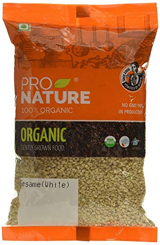 Pro Nature 100% Organic Sesame (White, Natural) 200 g by Hindustan Mart
