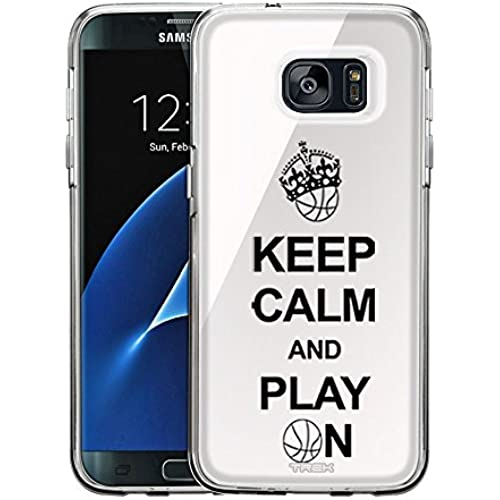 Samsung Galaxy S7 Edge Case, Snap On Cover by Trek KEEP CALM And Play On - Basketball on White One Piece Trans Case Sales