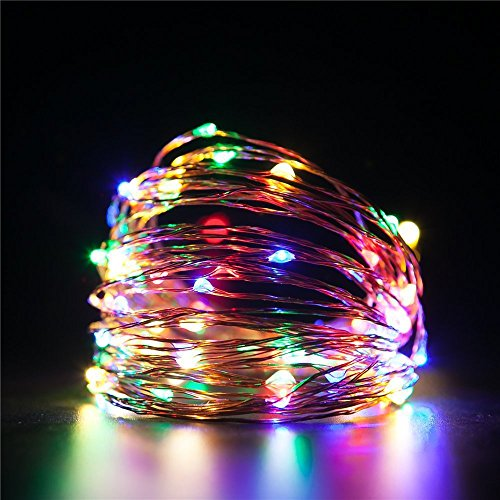 LED Rope Lights Battery Operated Waterproof 16.4 ft String Lights with Remote Timer AngleLife Firefly lights 8 Mode Dimmable Fairy Lights For Outdoor Indoor Home Decoration (Casa Decorata Per Halloween)