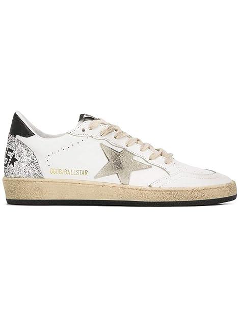 GOLDEN GOOSE G34WS592I1 Mujer Blanco Cuero Zapatillas: Amazon.es: Zapatos y complementos