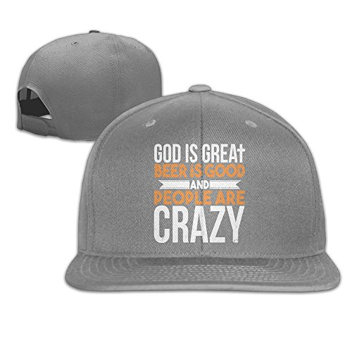 Los Angeles Pencil Dodgers (Yishuo Mens God Is Great, Beer Is Good Classic Jogging Ash Hat Adjustable Snapback)
