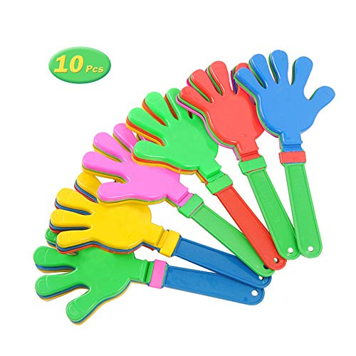 11 Inch Hand Clappers Plastic Noisemaker Favors, Pack of 10]()